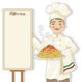 Chefillustration Stockfotos