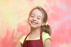 Chefkind mit glücklichem Gesicht Stockfotografie