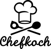 Chefkoch Hat and Spoons. Vector german Royalty Free Stock Images