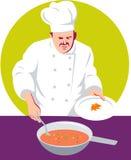 Chefkochen stockbild