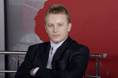 chefnewscastertelevision royaltyfria foton