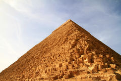 Chefren pyramid. In Giza - Egypt Royalty Free Stock Photos