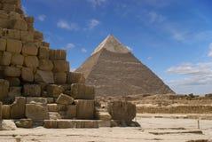 chefren pyramiden royaltyfria foton