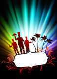 Chefs on Abstract Tropical Frame Background with Spectrum Stock Image