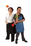 Chefs avec des légumes Photographie stock libre de droits