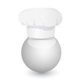 Chefs cap on a sphere illustration Royalty Free Stock Images