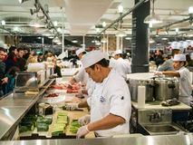 The Chefs at Chelsea Market Stock Image