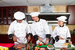 Chefs cooking Royalty Free Stock Photos