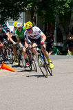 Chefs de chasse de cyclistes chez Criterium Images libres de droits