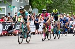 Chefs de chasse de cyclistes chez Stillwater Photographie stock