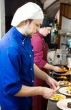Chefs at decoration food Stock Photo