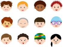 Chefs des garçons, hommes, ethnics différent de gosses (mâle) illustration libre de droits
