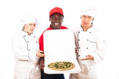 Chefs Disapprove Of Pizza Sevice royalty free stock photography