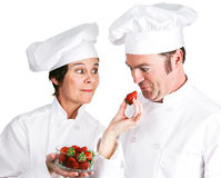 Chefs Fresh Strawberries Royalty Free Stock Photography