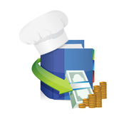 Chefs hat and cook book profits Stock Image