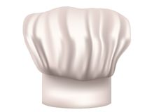 Chefs hat cut out. On a white background Royalty Free Stock Photo