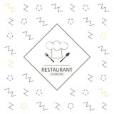 Chefs hat icon. Food and Menu design. Vector graphic Stock Images