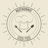 Chefs hat icon. Menu and food design. Vector graphic Stock Photography
