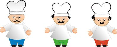 Chefs' illustration Stock Photos