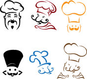 Chefs. Illustration of chefs is isolated on white background, created in illustrator software Stock Photography