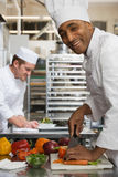 Chefs in kitchen Royalty Free Stock Image