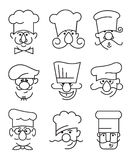 Chefs moustachus réglés illustration libre de droits