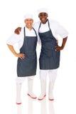 Chefs multiraciaux photographie stock