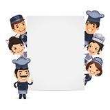 Chefs Presenting Empty Vertical Banner Stock Images