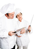 Chefs - Quality Knives royalty free stock photography