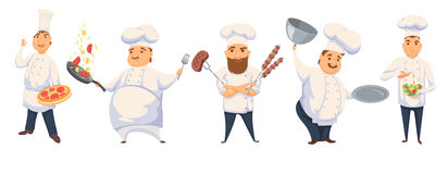 Chefs in restaurant Royalty Free Stock Image