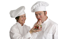 Chefs Tasting Strawberries Stock Image