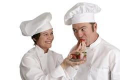 Chefs Tasting Strawberries Stock Image