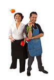 Chefs With Vegetables Royalty Free Stock Photography
