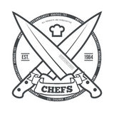Chefs Vintage T-shirt graphics print vector Royalty Free Stock Photo