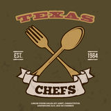 Chefs Vintage T-shirt graphics print vector Stock Photo