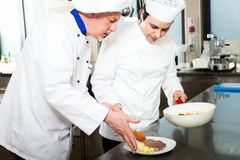 Chefs at work Royalty Free Stock Photography