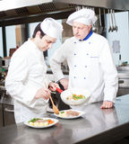 Chefs at work Royalty Free Stock Image