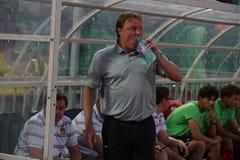 Cheftrainer von FC Ufa Igor Kolyvanov Stockbild