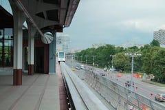 Chegada à estação do monotrilho Fotos de Stock Royalty Free