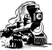 Chegada da locomotiva de vapor Imagens de Stock