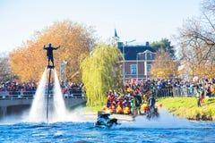 A chegada de St Nicholas Sinterklaas fotografia de stock
