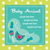 Chegada do bebê para meninos Fotografia de Stock