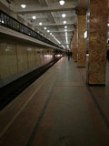 Chegada do metro Imagem de Stock