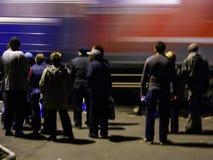 A chegada do trem da campanha do partido democrático liberal do russo Fotos de Stock