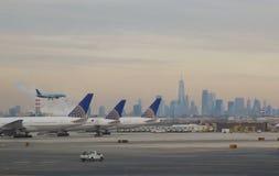 Chegada do voo - New York City imagem de stock