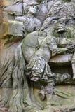 Chegada dos três reis - detalhe imagem de stock