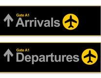 Chegada e partidas do aeroporto ilustração stock