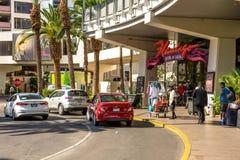 Chegada & partida do turista do flamingo Hilton foto de stock