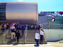 Chegadas do aeroporto de Dubrovnik fotografia de stock royalty free