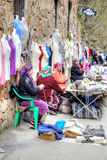 Chegem峡谷的妇女 免版税库存图片